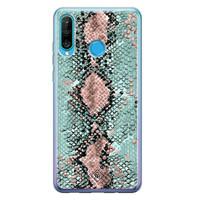 Casimoda Huawei P30 Lite siliconen hoesje - Snake pastel