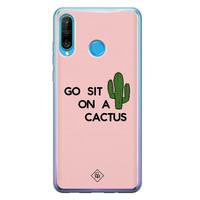 Casimoda Huawei P30 Lite siliconen hoesje - Go sit on a cactus