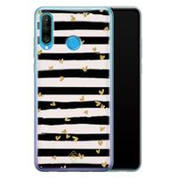 Casimoda Huawei P30 Lite siliconen telefoonhoesje - Hart streepjes