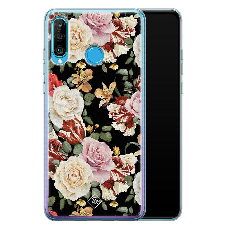 Casimoda Huawei P30 Lite siliconen hoesje - Flowerpower