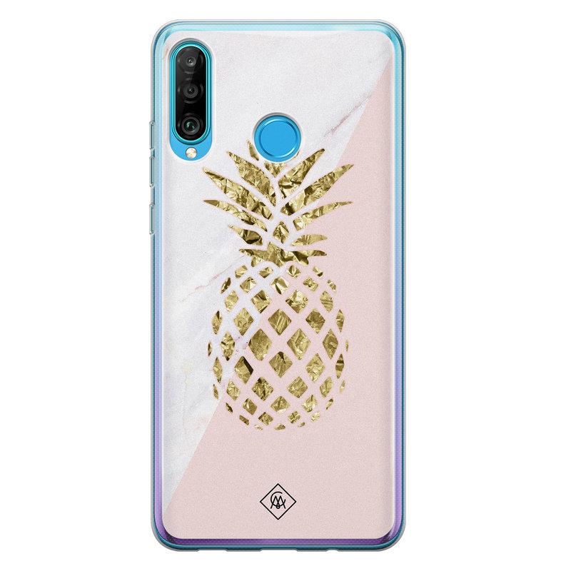 Casimoda Huawei P30 Lite siliconen hoesje - Ananas