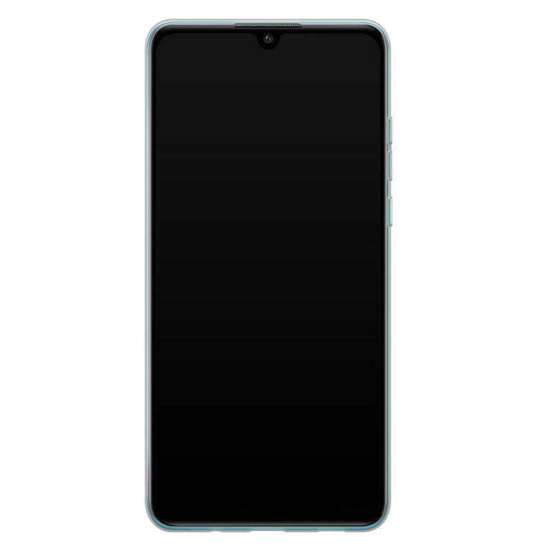 Casimoda Huawei P30 Lite siliconen telefoonhoesje - Parelmoer marmer