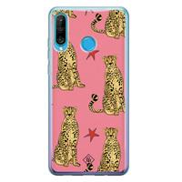 Casimoda Huawei P30 Lite siliconen hoesje - The pink leopard