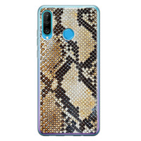 Casimoda Huawei P30 Lite siliconen hoesje - Golden snake