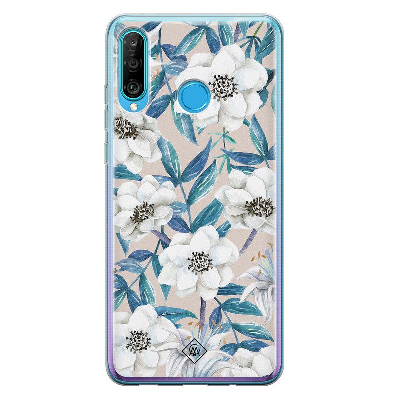 Casimoda Huawei P30 Lite siliconen telefoonhoesje - Touch of flowers