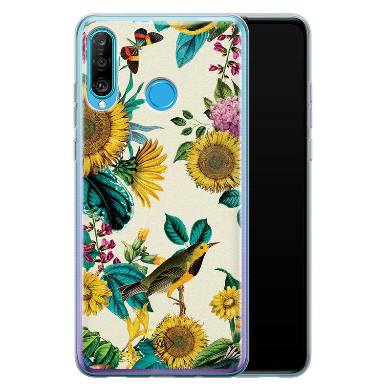 Casimoda Huawei P30 Lite siliconen hoesje - Sunflowers
