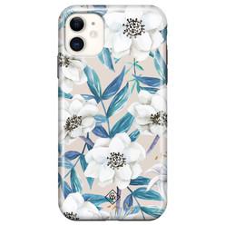 Casimoda iPhone 11 rondom bedrukt hoesje - Touch of flowers