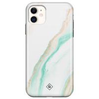 Casimoda iPhone 11 rondom bedrukt hoesje - Sweet marble