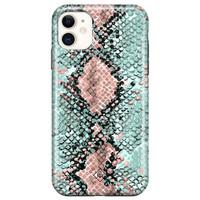 Casimoda iPhone 11 rondom bedrukt hoesje - Baby snake