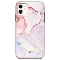 Casimoda iPhone 11 rondom bedrukt hoesje - Purple sky