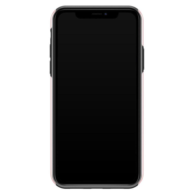 Casimoda iPhone 11 rondom bedrukt hoesje - Go sit on a cactus