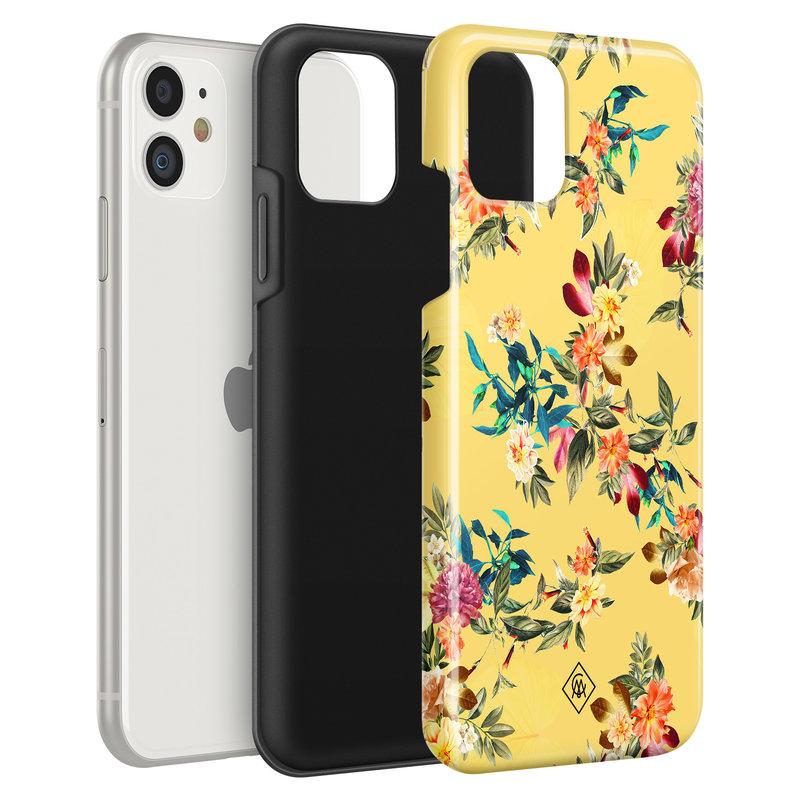 Casimoda iPhone 11 rondom bedrukt hoesje - Florals for days