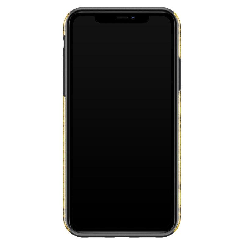Casimoda iPhone 11 rondom bedrukt hoesje - Yellow snake