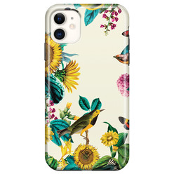 Casimoda iPhone 11 rondom bedrukt hoesje - Sunflowers