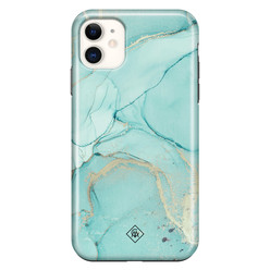 Casimoda iPhone 11 rondom bedrukt hoesje - Touch of mint