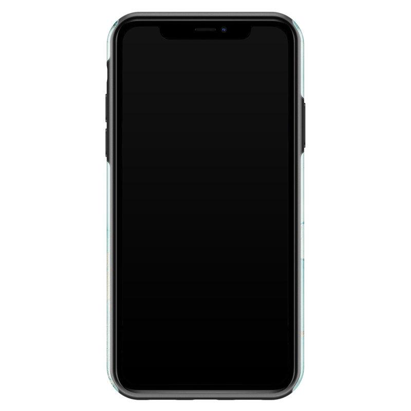 Casimoda iPhone 11 rondom bedrukt hoesje - Touch of mint