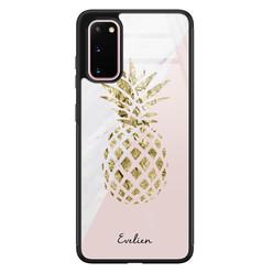 Samsung Galaxy S20 glazen hoesje ontwerpen - Ananas