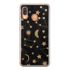 Casimoda Samsung Galaxy A40 siliconen hoesje - Counting the stars