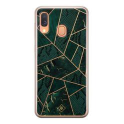 Casimoda Samsung Galaxy A40 siliconen hoesje - Abstract groen