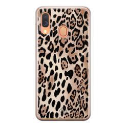 Casimoda Samsung Galaxy A40 siliconen hoesje - Golden wildcat