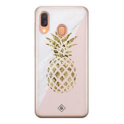 Casimoda Samsung Galaxy A40 siliconen hoesje - Ananas