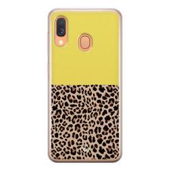 Casimoda Samsung Galaxy A40 siliconen hoesje - Luipaard geel