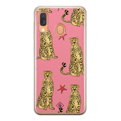 Casimoda Samsung Galaxy A40 siliconen hoesje - The pink leopard