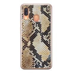 Casimoda Samsung Galaxy A40 siliconen hoesje - Golden snake