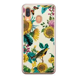 Casimoda Samsung Galaxy A40 siliconen hoesje - Sunflowers