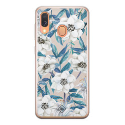 Casimoda Samsung Galaxy A40 siliconen hoesje - Touch of flowers