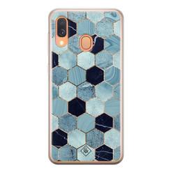 Casimoda Samsung Galaxy A40 siliconen hoesje - Blue cubes