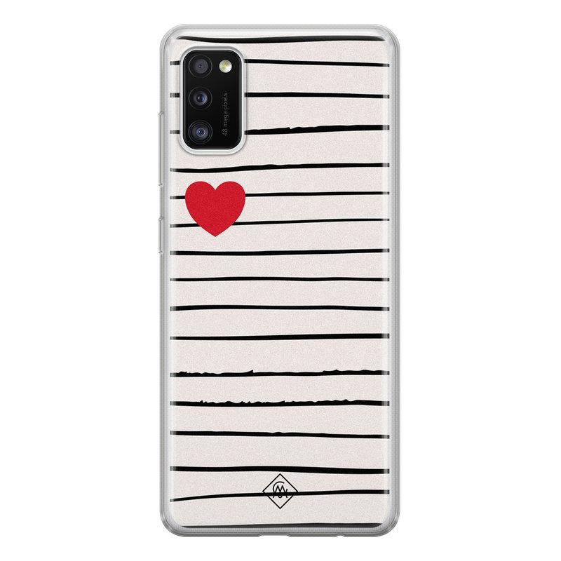 Casimoda Samsung Galaxy A41 siliconen hoesje - Heart queen