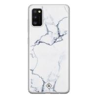 Casimoda Samsung Galaxy A41 siliconen hoesje - Marmer grijs