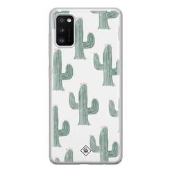 Casimoda Samsung Galaxy A41 siliconen hoesje - Cactus print