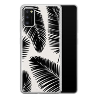 Casimoda Samsung Galaxy A41 siliconen telefoonhoesje - Palm leaves silhouette