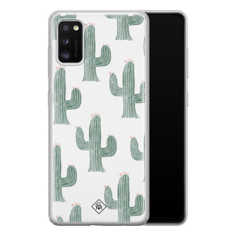 Casimoda Samsung Galaxy A41 siliconen telefoonhoesje - Cactus print