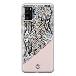 Casimoda Samsung Galaxy A41 siliconen hoesje - Snake print