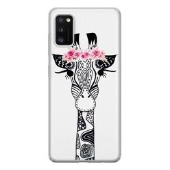 Casimoda Samsung Galaxy A41 siliconen hoesje - Giraffe