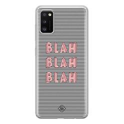 Casimoda Samsung Galaxy A41 siliconen hoesje - Blah blah blah