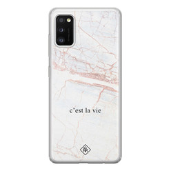 Casimoda Samsung Galaxy A41 siliconen hoesje - C'est la vie