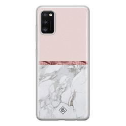 Casimoda Samsung Galaxy A41 siliconen hoesje - Rose all day