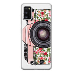 Casimoda Samsung Galaxy A41 siliconen hoesje - Hippie camera