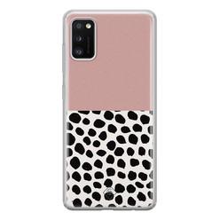 Casimoda Samsung Galaxy A41 siliconen hoesje - Pink dots