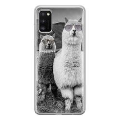 Casimoda Samsung Galaxy A41 siliconen hoesje - Llama hipster