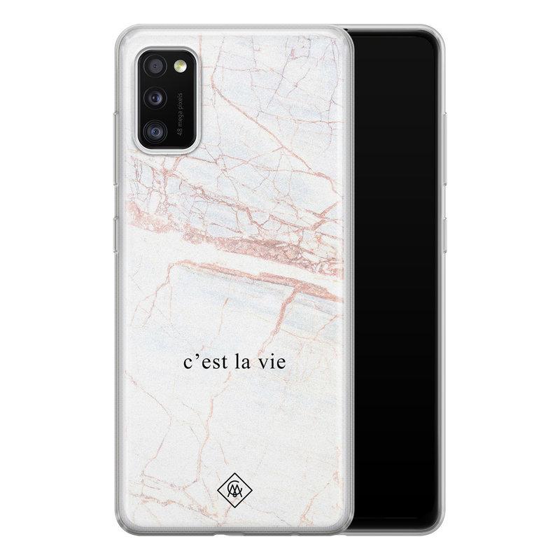 Casimoda Samsung Galaxy A41 siliconen telefoonhoesje - C'est la vie