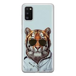 Casimoda Samsung Galaxy A41 siliconen hoesje - Tijger wild