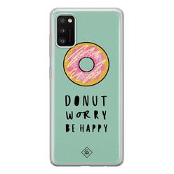 Casimoda Samsung Galaxy A41 siliconen hoesje - Donut worry