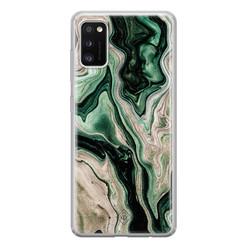 Casimoda Samsung Galaxy A41 siliconen hoesje - Green waves