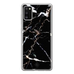 Casimoda Samsung Galaxy A41 siliconen hoesje - Marmer zwart
