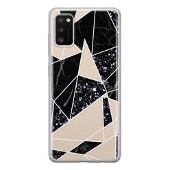 Casimoda Samsung Galaxy A41 siliconen hoesje - Abstract painted